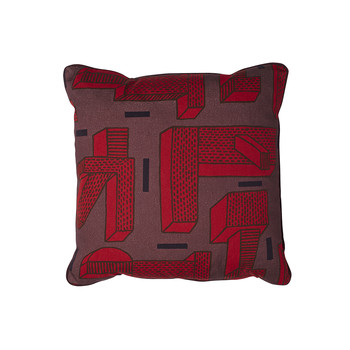 Printed Pillow NDP - 50x50cm - In the Grass - Red