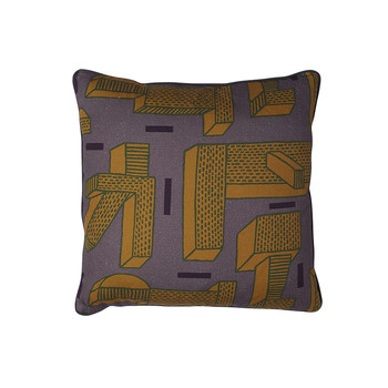 Printed Pillow NDP - 50x50cm - In the Grass - Ocre