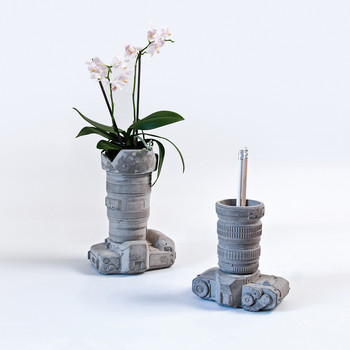 Concrete Camera Pot - Design 2