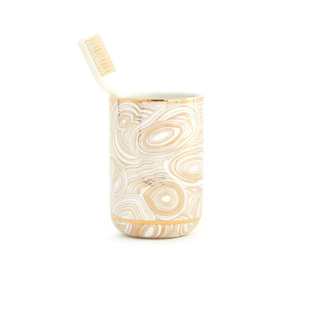 Malachite Tumbler - White & Gold