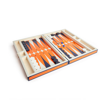 Lacquer Backgammon Set - Orange