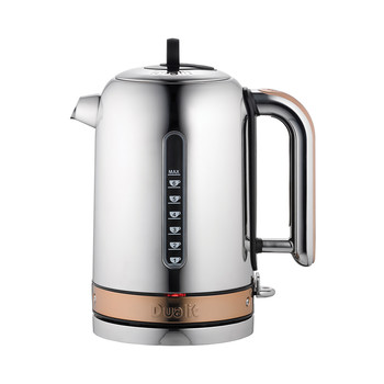 Classic Kettle - Chrome with Copper