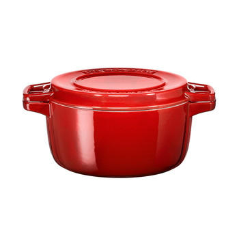 24cm Round Casserole Dish - Empire Red