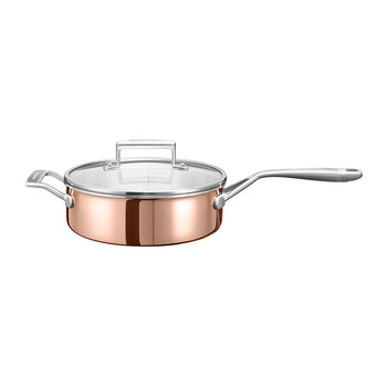 3-Ply Copper Saucepan with Handle