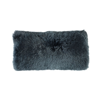 New Zealand Sheepskin Pillow - 28x56cm - Navy