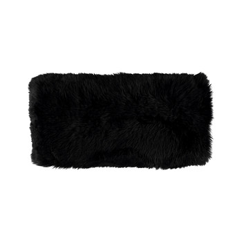 New Zealand Sheepskin Pillow - 28x56cm - Black