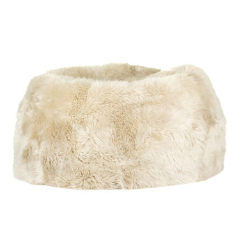 New Zealand Sheepskin Bean Bag - Linen