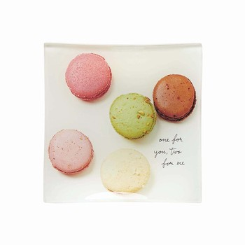 Macaroons Square Glass Tray