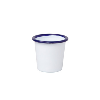 Mini Tumbler - Original White with Blue rim