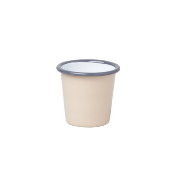 Mini Tumbler - Beige with Grey rim