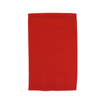 Tea Towel - Pillarbox Red with Red stripe