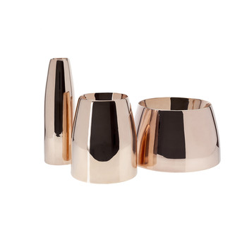 Spun Vase Trio - Copper