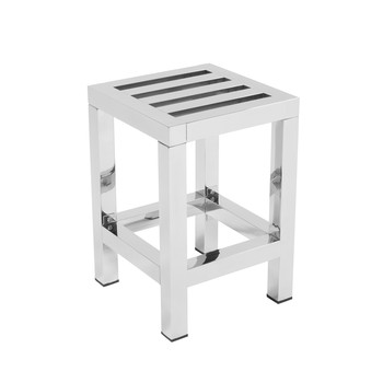 Stainless Steel Stool - H43 x W30 x D30cm