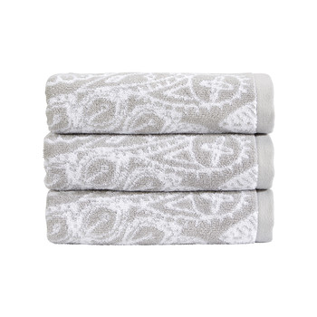 Secret Garden Towel - Silver