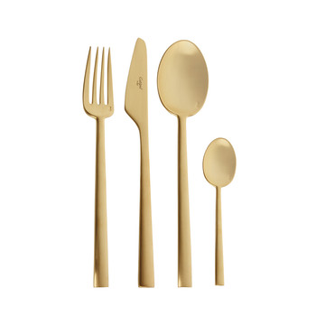 Rondo 24 Piece Cutlery Set - Matt Gold
