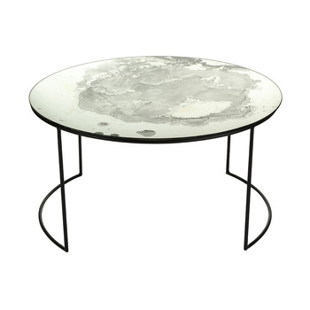 Iridescent Glass Round Table