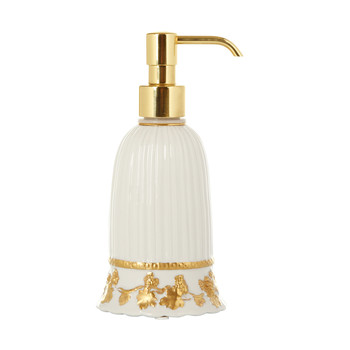 Impero Soap Dispenser - White & Antique Gold