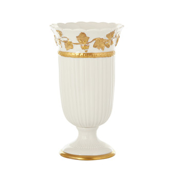 Impero Toothbrush Holder - White & Antique Gold