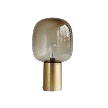 Note Table Lamp - Grey/Brass