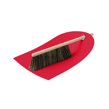 Dustpan & Broom - Red