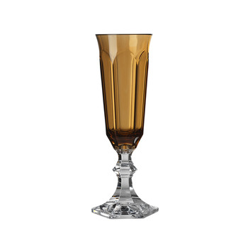 Dolce Vita Acrylic Champagne Flute - Amber