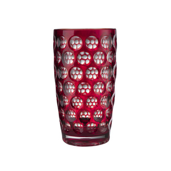 High Lente Acrylic Highball Tumbler - Red