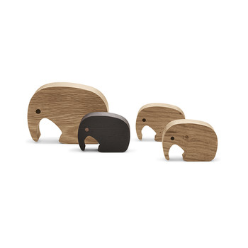 Elephant Figurine - Set of 4