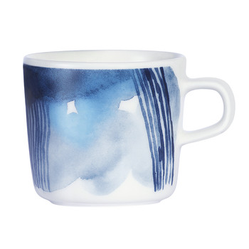 Oiva Coffee Cup - White/Blue