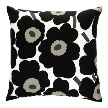 Pieni Unikko Cushion Cover - White/Black