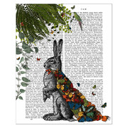 hare-with-butterfly-cloak-print