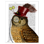 owl-with-top-hat-print