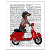 dachshund-on-a-moped-print