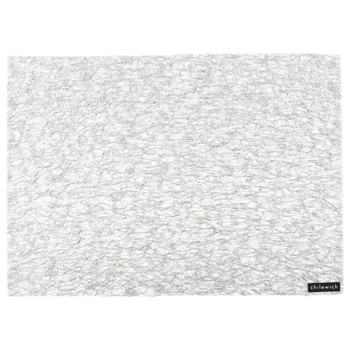 Metallic Lace Rectangle Placemat - Silver