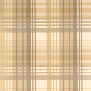 Modern Tartan Wallpaper - FG059/A127 Charcoal/Gold