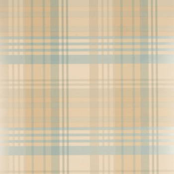 Modern Tartan Wallpaper - FG059/R32 Teal/Gold