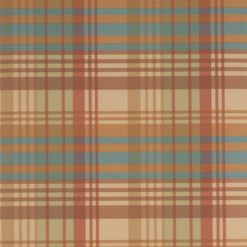 Modern Tartan Wallpaper - FG059/V87 Red/Teal