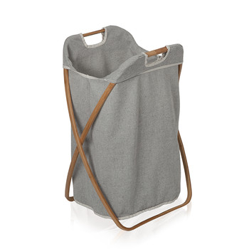Laundry Basket - Bamboo/Canvas