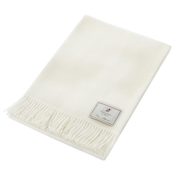 Natural Alpaca Throw - Cream