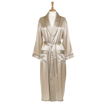 Silk Dressing Gown - Nude