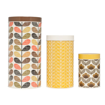 Browns/Yellows Canisters - Set of 3