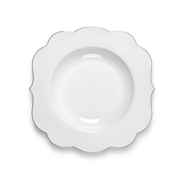 Royal Pip Pasta Plate - White