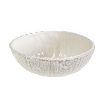 Knitted Porcelain Large Bowl
