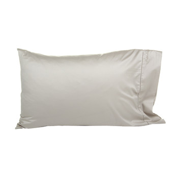 Langdon Solid Pillowcases - Silver - Set of 2 - 50x75cm