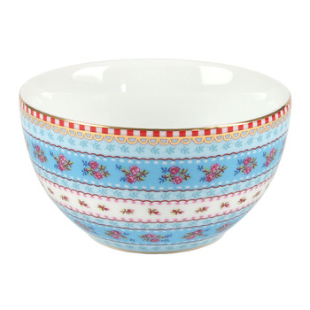Ribbon Rose Bowl - Blue