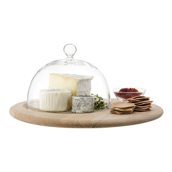 Serve Cheese Set & Oak Base