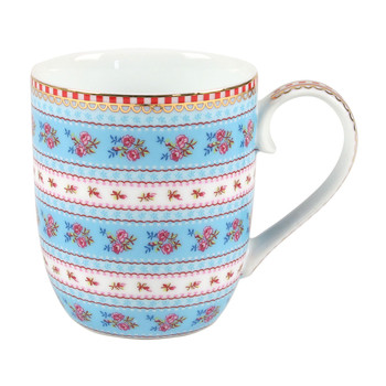 Small Ribbon Rose Mug - Blue