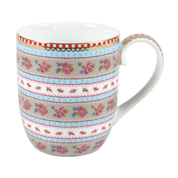 Small Ribbon Rose Mug - Khaki