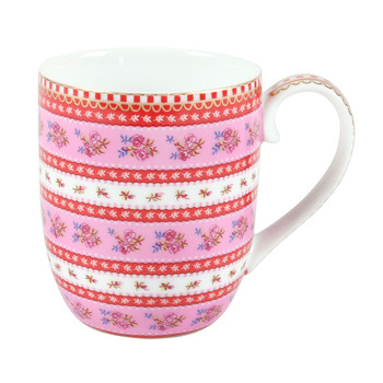 Small Ribbon Rose Mug - Pink
