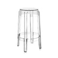Kartell - Charles Ghost Stool - Crystal