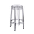 Kartell - Charles Ghost Stool - Smoke Gray